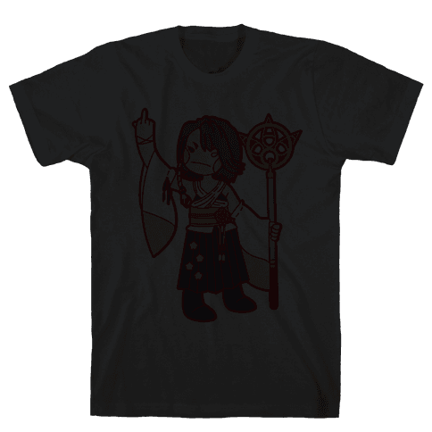 Yuna Giving The Finger Mens T-Shirt