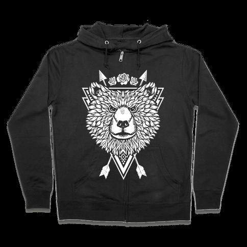 Indie Warrior Bear Zip Hoodie