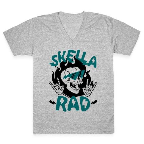 Skella Rad V-Neck Tee Shirt