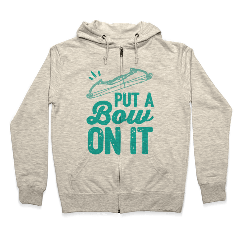 Put A Bow On It Zip Hoodie