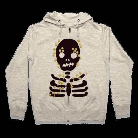 Mushroom Skeleton Zip Hoodie
