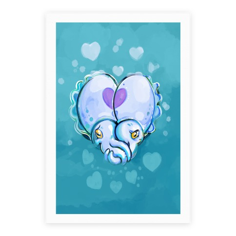 """Cuddle"" Fish (Cuttlefish) Poster"