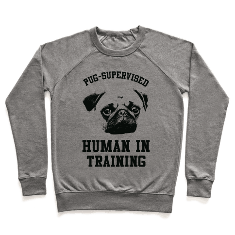 Pug Supervised Human in Training Pullover