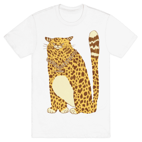 Big Chill Cat Mens T-Shirt