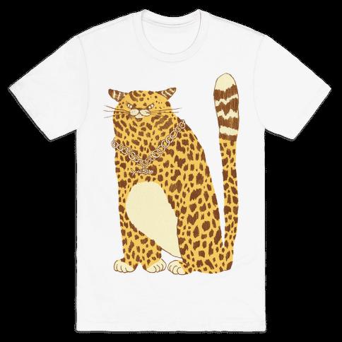 Big Chill Cat Mens T-Shirt