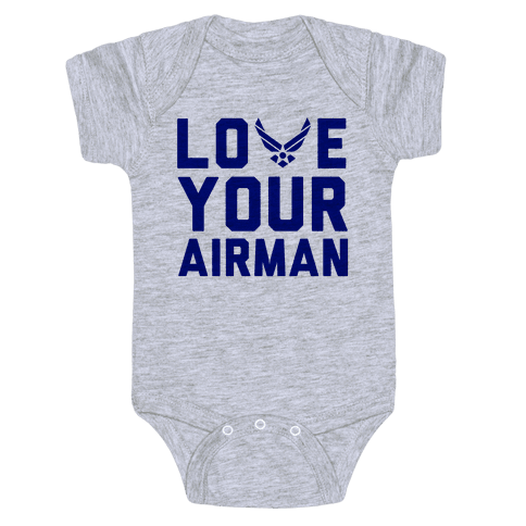Love Your Airman Baby Onesy