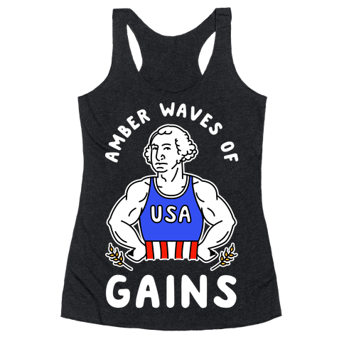 Amber Waves Of Gains Racerback Tank Top