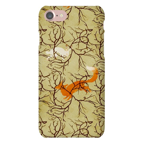Rabbit And The Fox Chase Phone Case