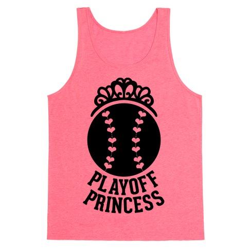 Playoff Princess (Baseball) Tank Top