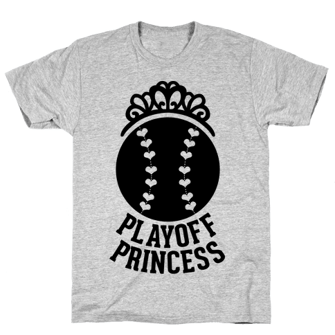 Playoff Princess (Baseball) Mens T-Shirt