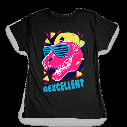 T-Rexcellent 90's Dinosaur Tyrannosaurus Womens T-Shirt