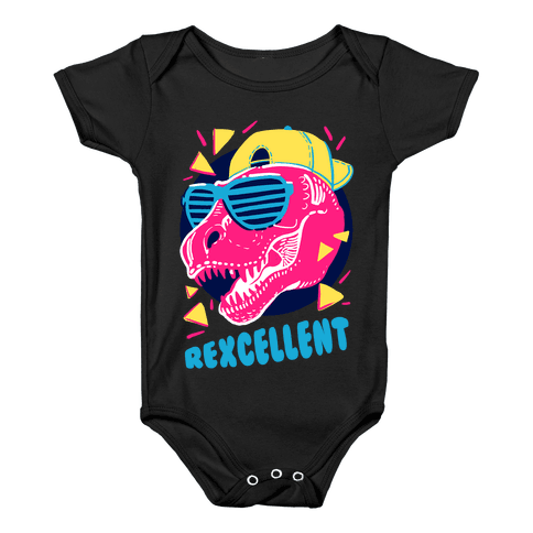 T-Rexcellent 90's Dinosaur Tyrannosaurus Baby Onesy