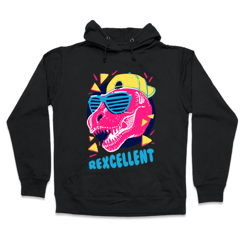 T- Rexcellent 90's Dinosaur Hooded Sweatshirt
