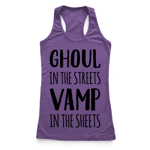 Ghoul In The Sheets Vamp In The Sheets Racerback Tank Top