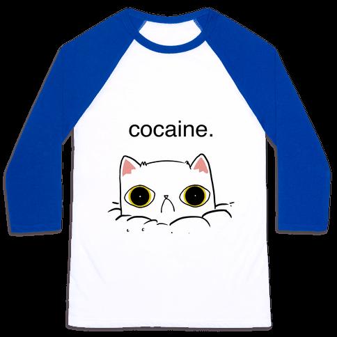 Kitty! No Cocaine! Baseball Tee