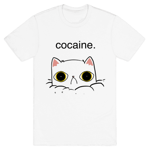 Kitty! No Cocaine! Mens T-Shirt