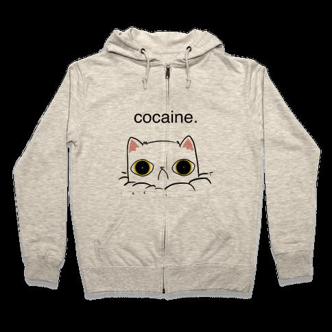 Kitty! No Cocaine! Zip Hoodie