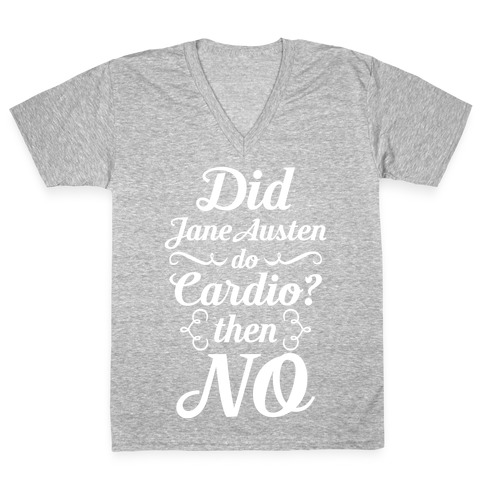 Jane Austen Cardio V-Neck Tee Shirt