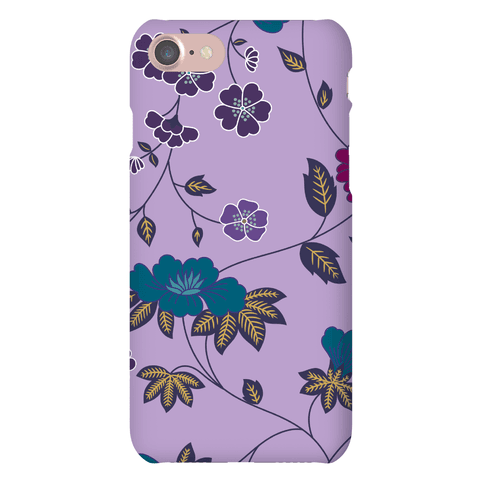 Pretty Floral Pattern Case (Purple) Phone Case