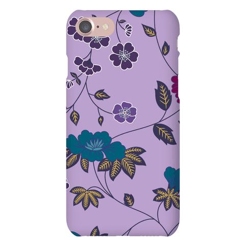 Pretty Floral Pattern Case (Purple)