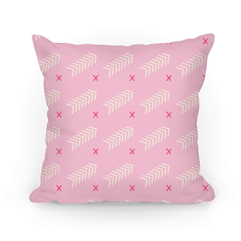 Pink Abstract Chevron Pattern Pillow