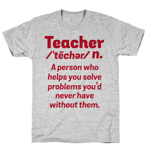 Teacher Definition Mens T-Shirt