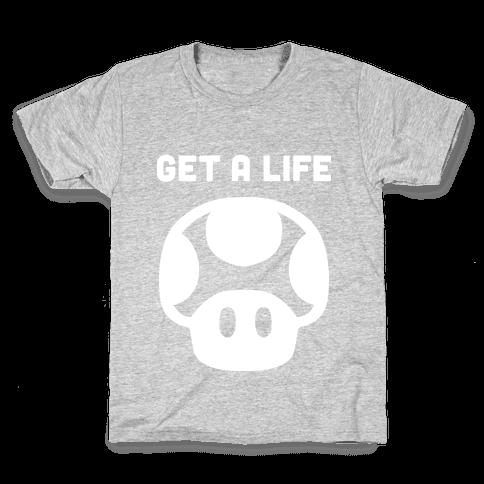 Green Mushroom (Get A Life) Kids T-Shirt