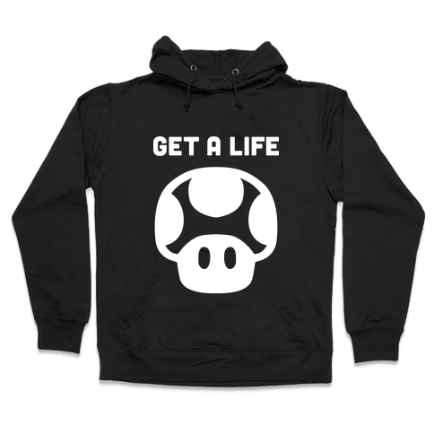 Green Mushroom (Get A Life) Hooded Sweatshirt