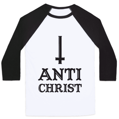 Baby Anti Christ Baseball Tee