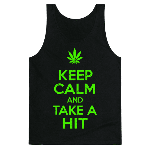 Keep Calm and Take a Hit Tank Top