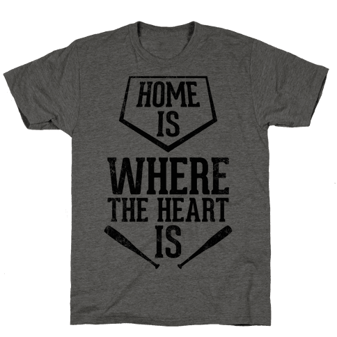 Home Is Where The Heart Is (Vintage) Mens T-Shirt