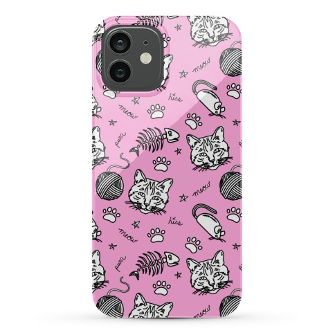 Cats and Cat Toys Pattern Phone Case