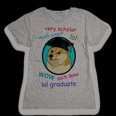 Doge Graduate Womens T-Shirt