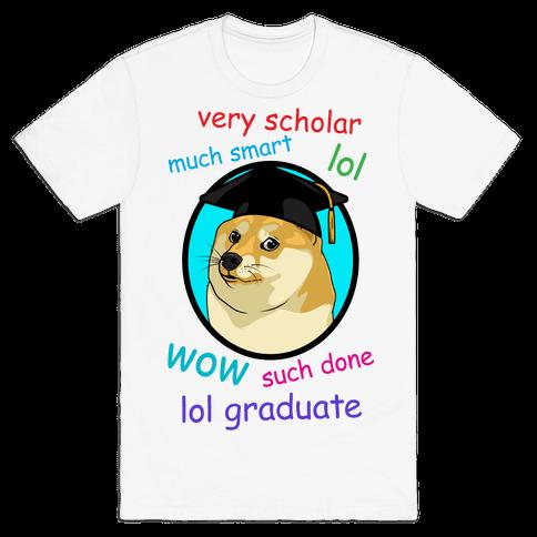 Doge Graduate Mens T-Shirt