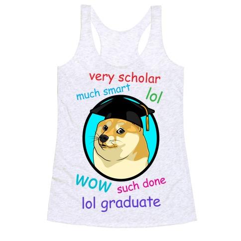 Doge Graduate Racerback Tank Top