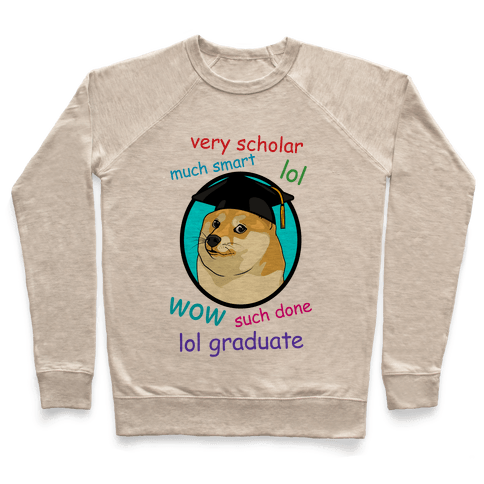 Doge Graduate Pullover