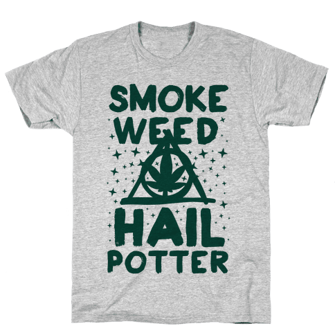 Smoke Weed Hail Potter Mens T-Shirt