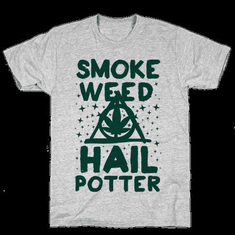 Smoke Weed Hail Potter Mens T-Shirt