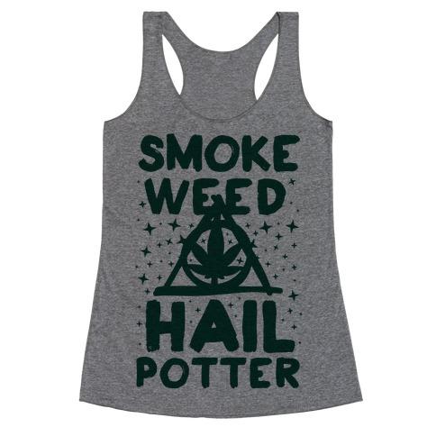 Smoke Weed Hail Potter Racerback Tank Top