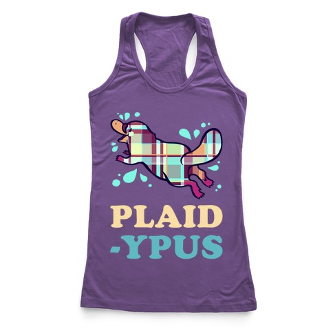 Plaidypus Racerback Tank Top