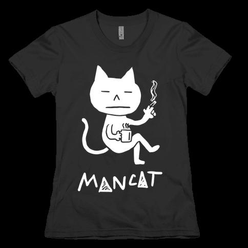 MAN CAT Womens T-Shirt