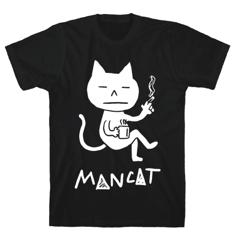 MAN CAT Mens T-Shirt