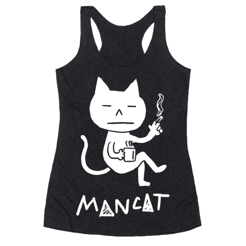 MAN CAT Racerback Tank Top