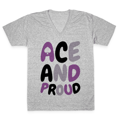 Ace And Proud V-Neck Tee Shirt