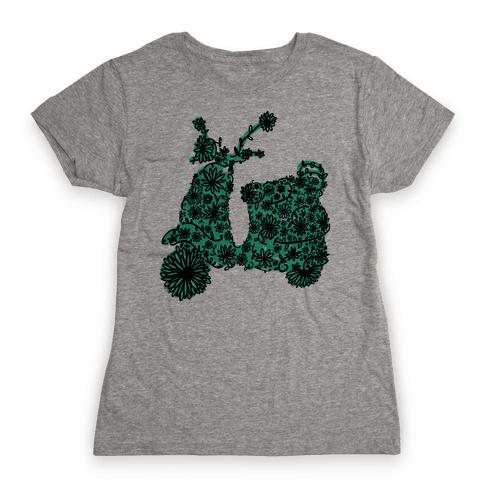 Floral Vespa Womens T-Shirt