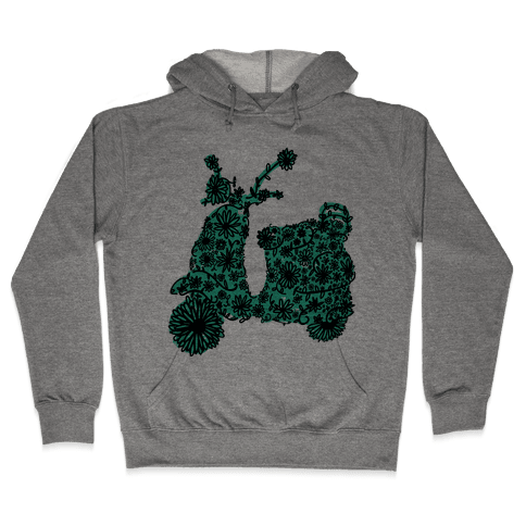 Floral Vespa Hooded Sweatshirt