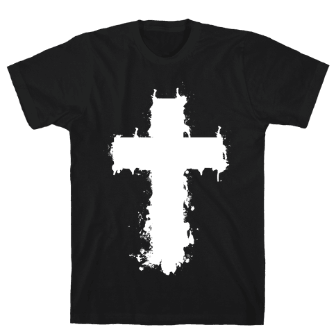 Splatter Cross Mens T-Shirt
