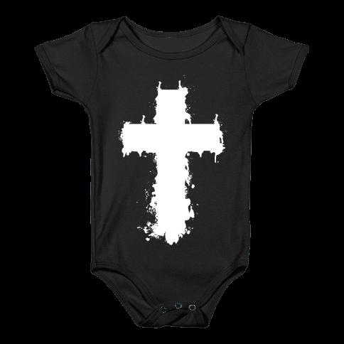 Splatter Cross Baby Onesy