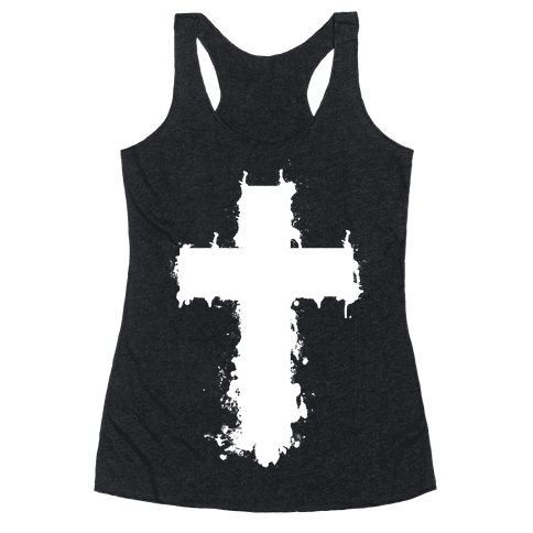 Splatter Cross Racerback Tank Top