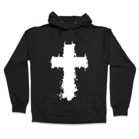 Splatter Cross Hooded Sweatshirt